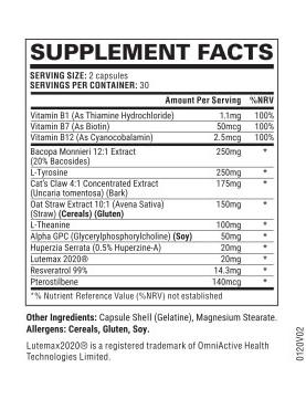 Noocube ingredients list