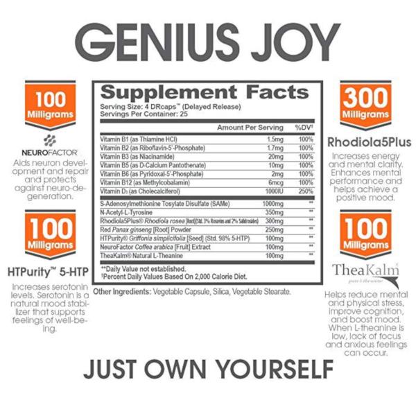 Genius Joy ingredients